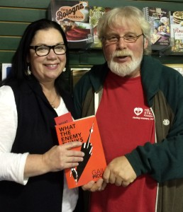 With Brad Barkhouse at The Book Worm in Gander